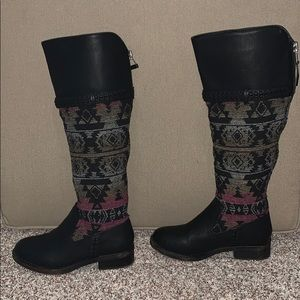 Madden girl Casttt Leather &Textile riding Boot